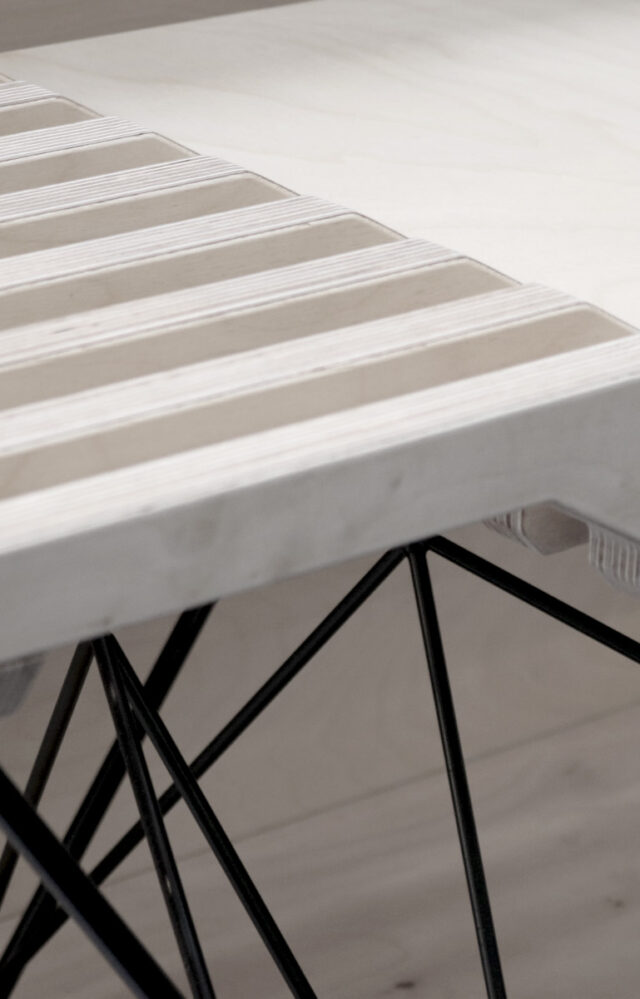 Plywood Furniture with Solid powder coated steel legs