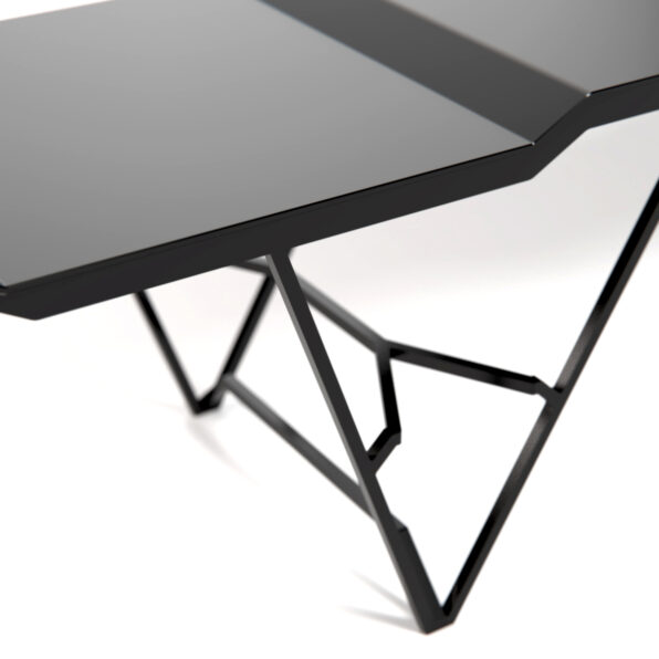Side of modern Powder Coated Steel bench