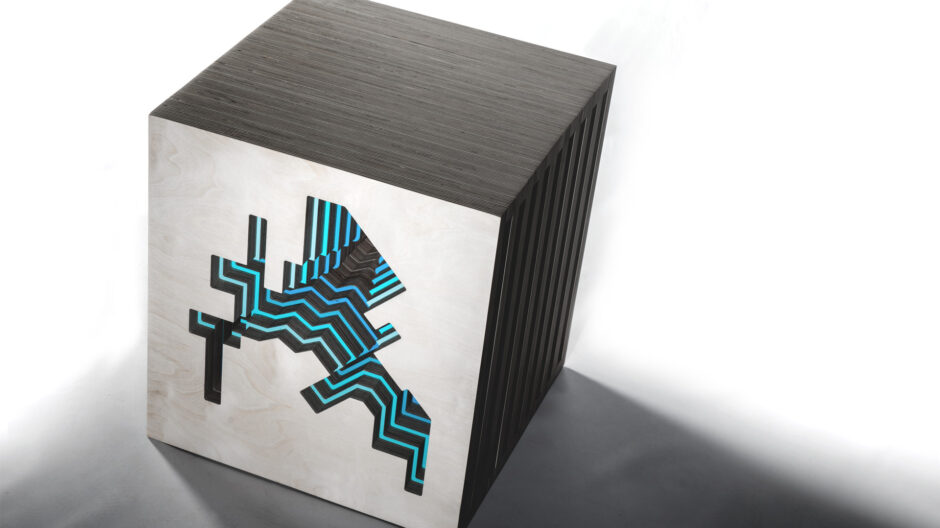 A contemporary Cube as a form of Art and furniture