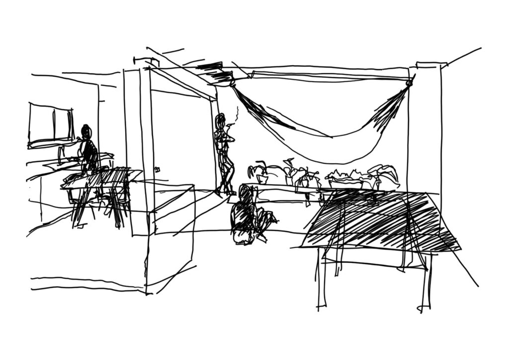 Clients enjoy referring to sketches to show us their ideas, likes and concept development towards the final piece.