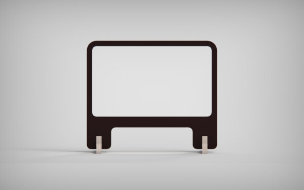 Screen With Opening Front View